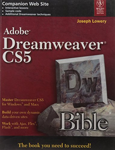 9788126527083: Adobe Dreamweaver CS5 Bible
