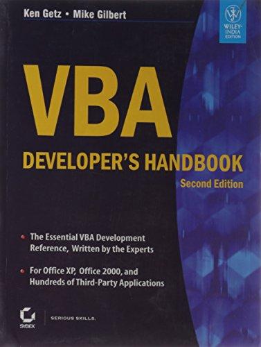 9788126527991: VBA DEVELOPER'S HANDBOOK, 2ND ED