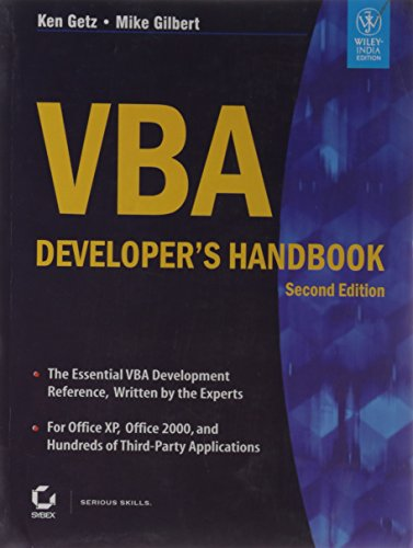 9788126527991: VBA DEVELOPER'S HANDBOOK, 2ND ED