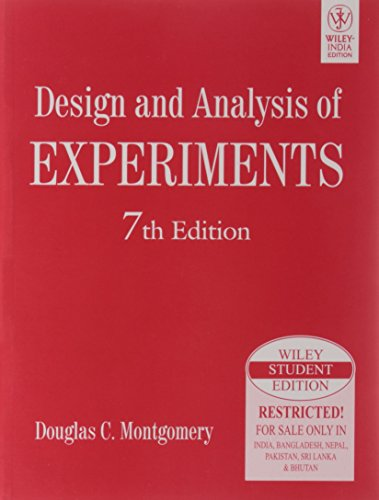 9788126528370: DESIGN AND ANALYSIS OF EXPERIMENTS, 7TH ED