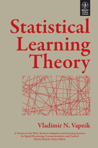 9788126528929: STATISTICAL LEARNING THEORY