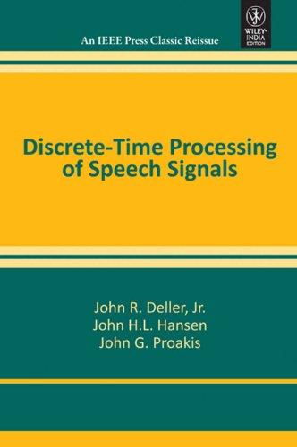 9788126528936: Discrete Time Processing Of Speech Signals