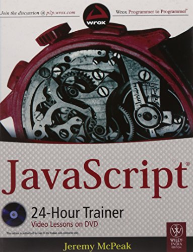 9788126529810: JavaScript 24-Hour Trainer