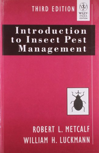 Introduction to Insect Pest Management (Third Edition): Robert L. Metcalf,William H. Luckmann