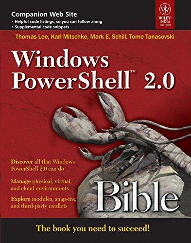 9788126533398: Windows Powershell 2.0 Bible