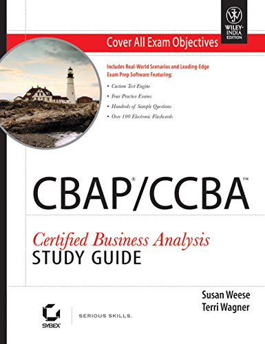 9788126533916: CBAP / CCBA Certified Business Analysis Study Guide