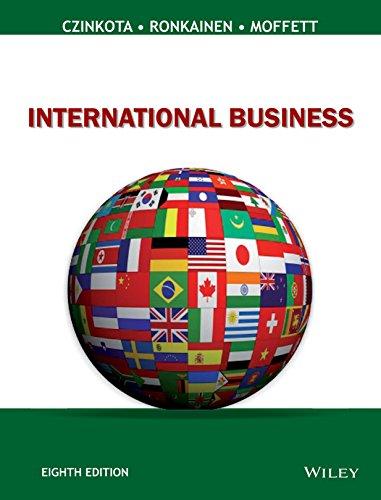 International Business, 8Th Edition: Czinkota, Ronkainen, Moffett