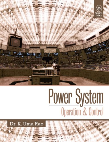 Power System: Operation & Control: Dr. K. Uma