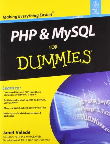 9788126535118: PHP & MYSQL FOR DUMMIES