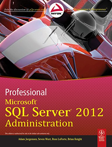 9788126535903: Professional Microsoft SQL Server 2012 Administration