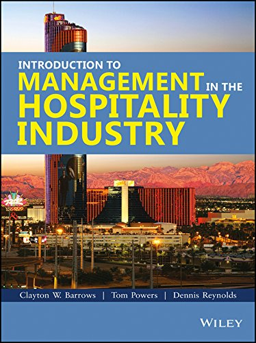 9788126537259: Introduction to Management in the Hospitality Industry 10th Edition