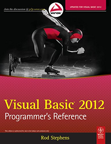 9788126538003: Visual Basic 2012 Programmer's Reference