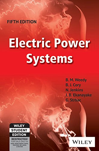 9788126540723: ELECTRIC POWER SYSTEMS, 5TH ED