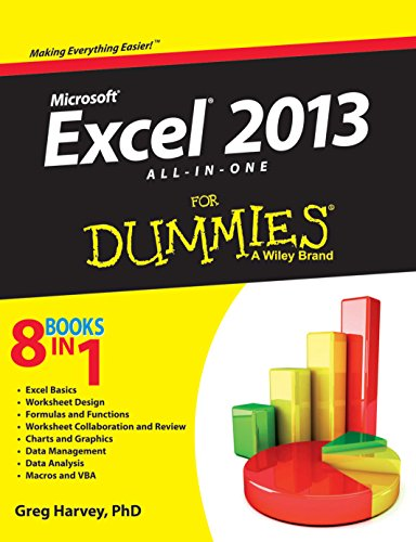 Microsoft Excel 2013 All-In-One for Dummies: A Wiley Brand (8 Books in 1): Greg Harvey