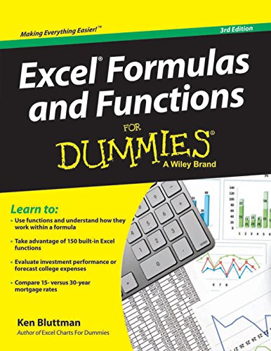 9788126542567: Excel Formulas and Functions for Dummies