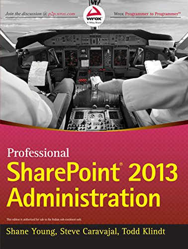9788126542741: Professional Sharepoint 2013 Administration