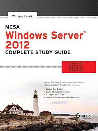 9788126543335: MCSA WINDOWS SERVER 2012 COMPLETE STUDY GUIDE : EXAM 70410,70411,70412,70417.