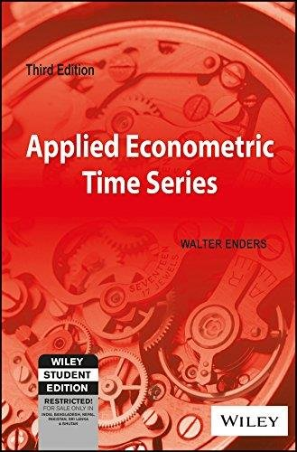 Applied Econometric Time Series, Third Edition: Walter Enders