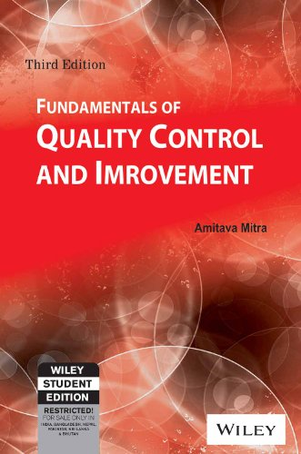 9788126544097: Fundamentals of Quality Control and Improvement
