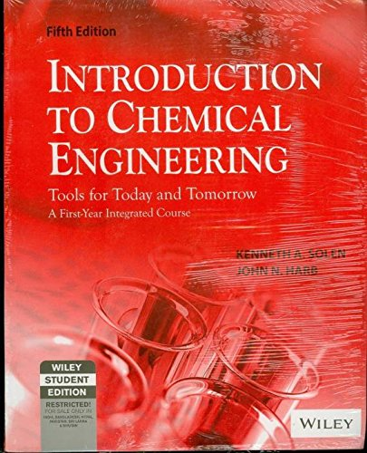9788126547104: Introduction to Chemical Engineering: Tools for Today and Tomorrow