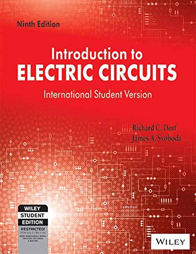9788126553440 Introduction To Electric Circuits Isv