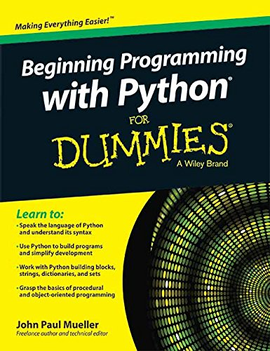 9788126553488: BEGINNING PROGRAMMING WITH PYTHON FOR DUMMIES