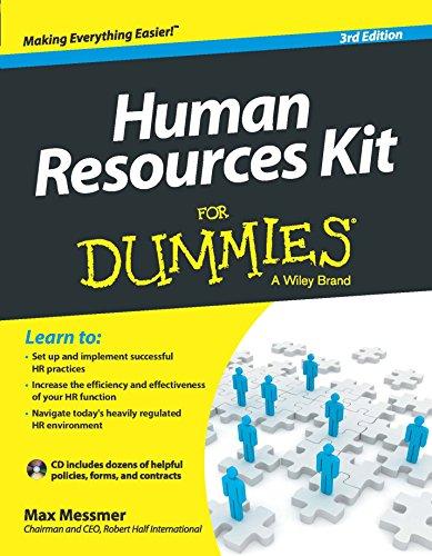 9788126554478: Human Resource Kit for Dummies, 3ed