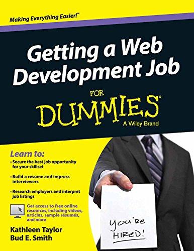 9788126554584: GETTING A WEB DEVELOPMENT JOB FOR DUMMIES