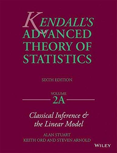 KENDALL'S ADVANCED THEORY OF STATISTICS, 6/E, VOL.2A