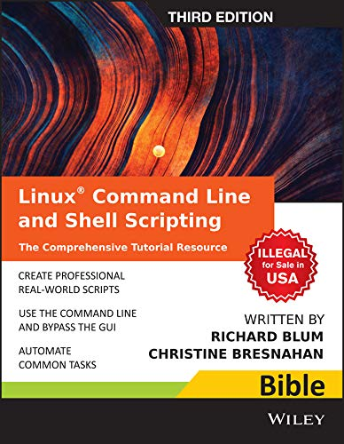 9788126554980: Linux Command Line and Shell Scripting Bible