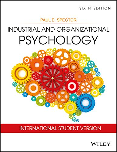 9788126555291: Industrial And Organizational Psychology : International Student Version, 6th Ed