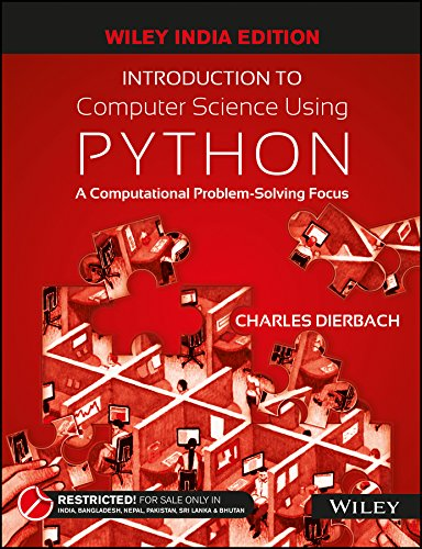 9788126556014: Introduction to Computer Science Using Python : A Computational Problem - Solving Focus
