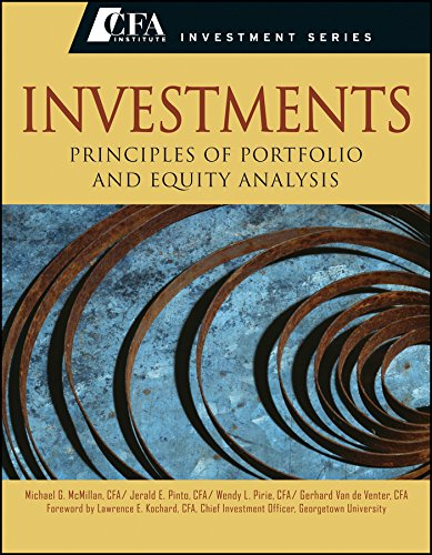 9788126556168: Investments: Principles Of Portfolio And Equity Analysis