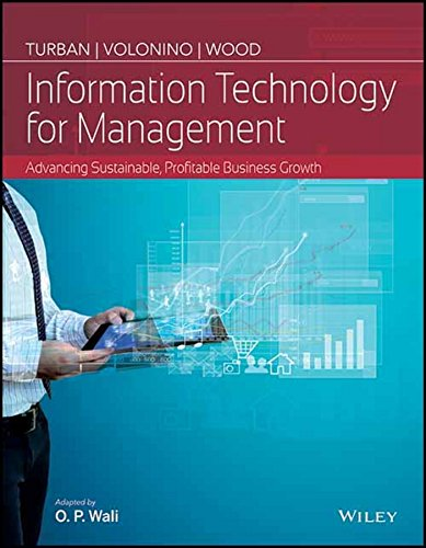 Information Technology For Management : Advancing Sustainable,: Turban & Volonino