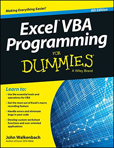 9788126558834: EXCEL VBA PROGRAMMING FOR DUMMIES, 4TH ED