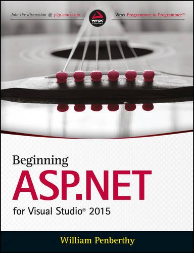 9788126560486: Beginning ASP.NET for Visual Studio 2015