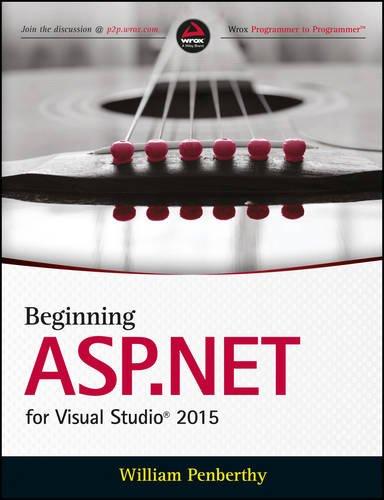9788126560486: Beginning ASP.NET for Visual Studio 2015