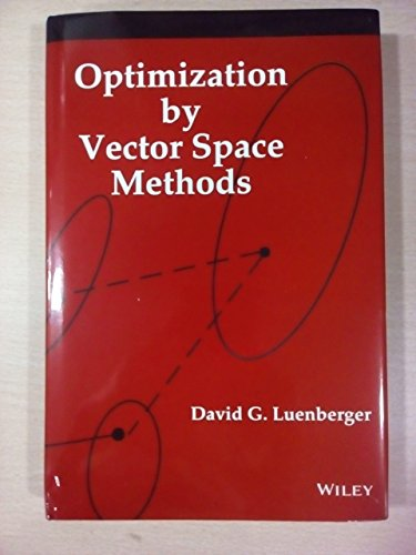 9788126561650: Optimization By Vector Space Methods