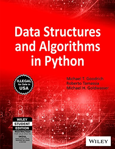 9788126562176: Data Structures and Algorithms in Python