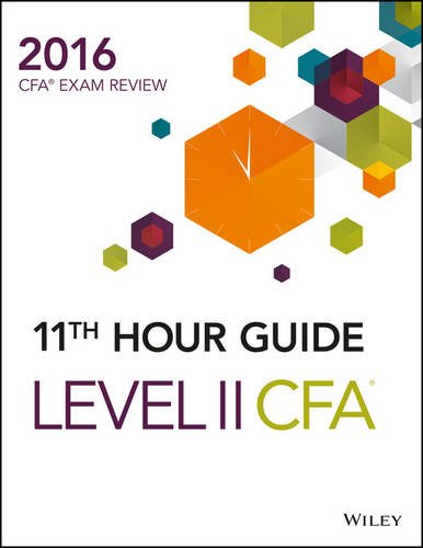 9788126562213: Wiley 11th Hour Guide for 2016 Level II CFA Exam