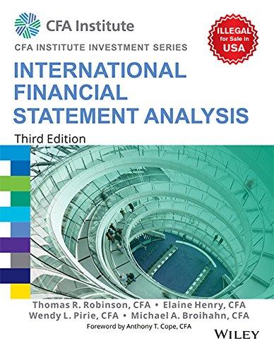 9788126564767: International Financial Statement Analysis, 3Ed (Cfa Institute Investment Series)