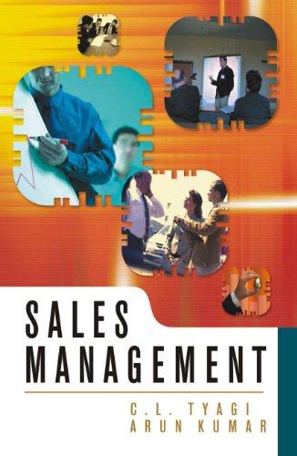 Sales Mangement: Arun Kumar,C.L. Tyagi