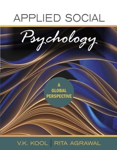 Applied Social Psychology: A Global Perspective: Rita Agrawal,V.K. Kool