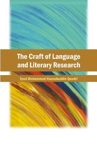 9788126913558: The Craft of Language and Literary Research