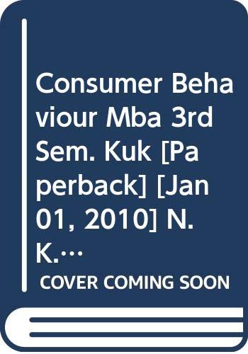 9788127264260: Consumer Behaviour Mba 3rd Sem. Kuk