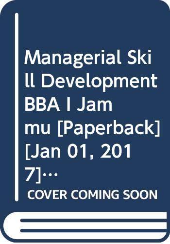 Managerial Skill Development BBA I Jammu: Arora Abhishek