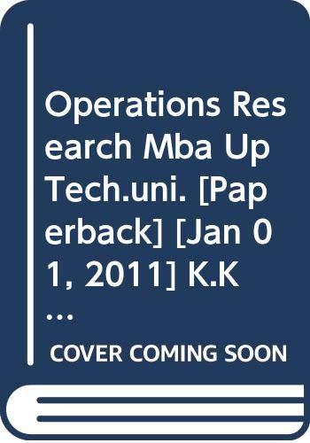 Operations Research MBA UP Tech Uni.: Chawla K.K., Bhushan