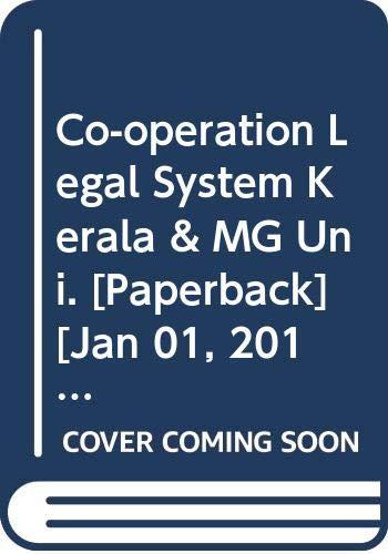 Co-operation Legal System Kerala & MG Uni.: Nair K.M.