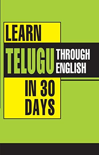 Learn Telugu in 30 Days Through English: Krishna Gopal Vikal,