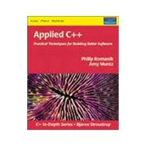 9788129705266: Applied C++: Practical Techniques for Building Better Software , with cd